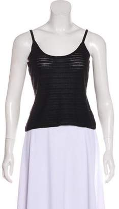 Bergdorf Goodman Open Knit Sleeveless Top