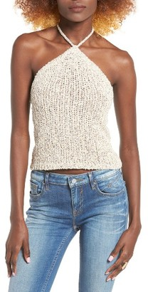 Women's Astr The Label Knit Halter Tank $45 thestylecure.com