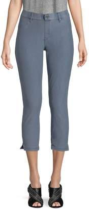 Hue Ankle Slit Essential Denim Capri Pants