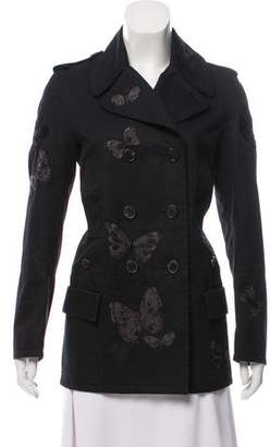 Valentino Tailored Butterfly Embroidered Coat