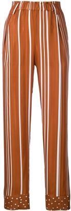 Stine Goya spots and stripes print trousers