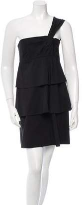 Robert Rodriguez Sleeveless One-Shoulder Dress