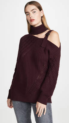 Jonathan Simkhai Strapped Wool Asymmetric Sweater
