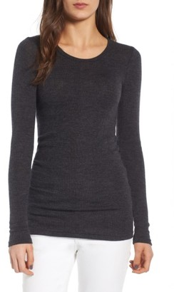 Women's James Perse Tubular Cashmere Tee $395 thestylecure.com