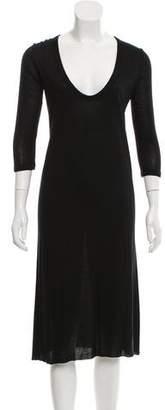 Rick Owens Silk Blend Long Sleeve Dress