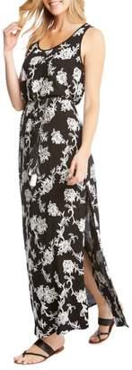 Karen Kane Embroidered A-Line Max Dress