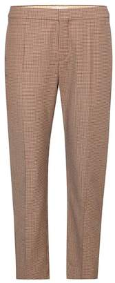 Chloé Plaid cropped trousers