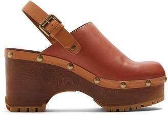 See by Chloe Slingback leather clogs