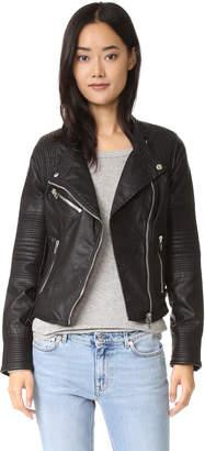 Blank Denim Vegan Moto Jacket $128 thestylecure.com