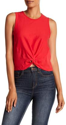 Contemporary Designer Knot Front Tank Top