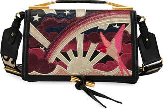 Stella McCartney Sunrise Embroidered Shoulder Bag