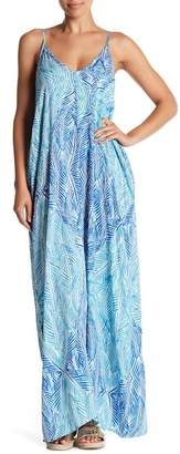 Love Stitch Printed V-Neck Maxi Dress