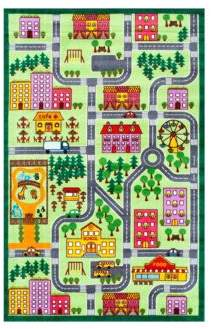nuLoom Kinderloom City Neighborhood Printed Rug