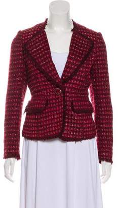 Tory Burch Tweed Notch-Lapel Blazer
