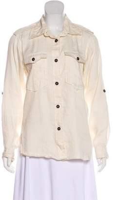 Etoile Isabel Marant Linen Button-Up Top