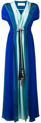 Peter Pilotto contrast flared maxi dress
