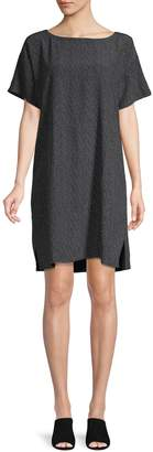 Eileen Fisher Printed High-Low Shift Dress