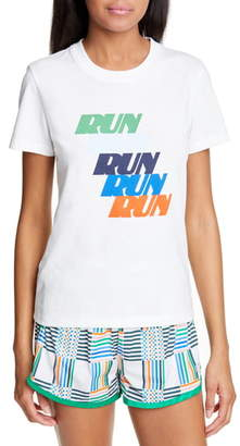 Tory Sport Run Print Cotton Blend Tee