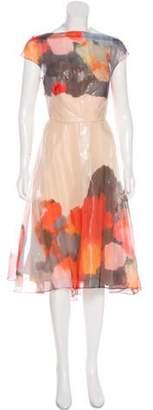 Lela Rose Metallic Cocktail Dress Tan Metallic Cocktail Dress