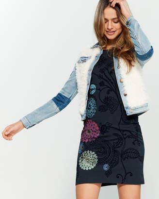 ee9175e8dfb Desigual Valerie Faux Fur Denim Jacket