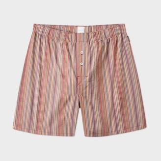 Men's Signature Stripe Cotton Boxer Shorts $65 thestylecure.com