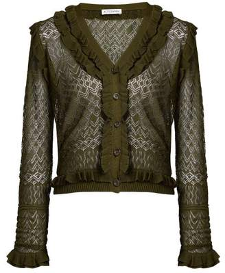 Altuzarra Kozmic Pointelle Knit Cardigan - Womens - Dark Green
