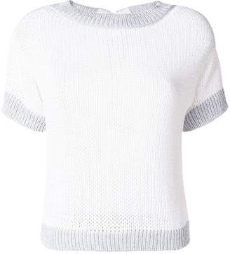 D'aniello La Fileria For metallic knit top