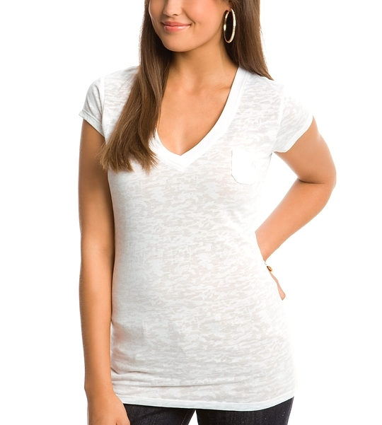 Ava V-Neck Burnout Tee