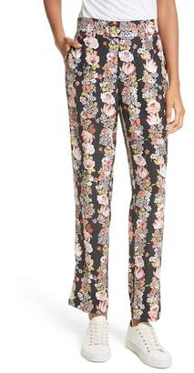 Equipment Florence Floral Silk Trousers
