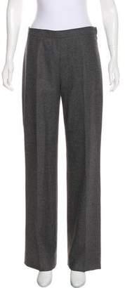 Agnona Wool & Angora Mid-Rise Pants