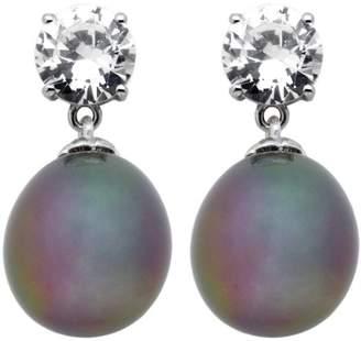 Burgmeister Jewelry Women's Stud Earrings Cubic Zirconia Rhodium Plated 925 Sterling Silver JHE1088 223