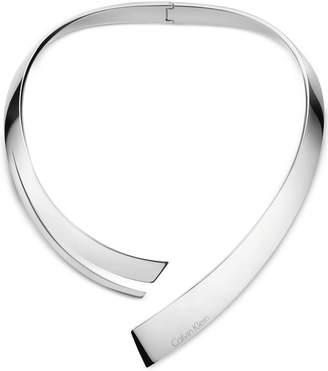 Calvin Klein beyond Silver-Tone Stainless Steel Hinged Choker Necklace KJ3UMJ000100