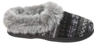 Dearfoams Women's Wide Width Knit Clog Slippers