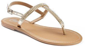 Candie's® Women's Rhinestone T-Strap Sandals $24 thestylecure.com