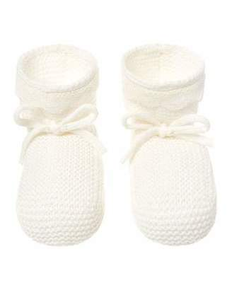 Carrera Pili Lace Trim Knitted Booties, Baby