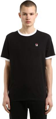 Contrasting Edges Cotton Jersey T-Shirt