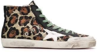 Golden Goose leopard print high top sneakers