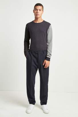 French Connenction Patchwork Pinstripe Trousers