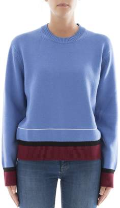 Calvin Klein Light Blue Wool Sweatshirt