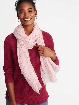 Old Navy Printed Gauze Scarf for Women