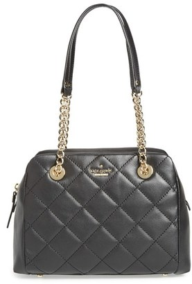 Kate Spade New York 'Emerson Place - Dewy' Quilted Satchel - Black $398 thestylecure.com