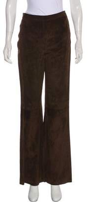 Ungaro Suede High-Rise Pants