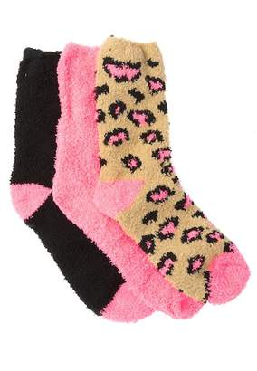 Betsey Johnson Cozy Crew Socks Holiday Gift Box Set - Pack of 3