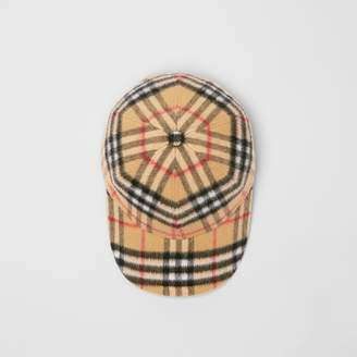 Burberry Vintage Check Wool Baseball Cap