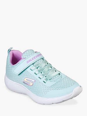 Skechers Children's Dyna-Lite Trainers, Aqua/Purple