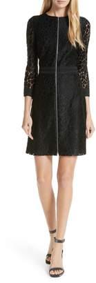 Judith & Charles Celia Lace Front Zip Dress