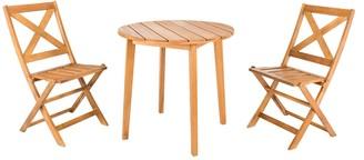 Safavieh Bruna Indoor / Outdoor Bistro Table & Chair 3-piece Set