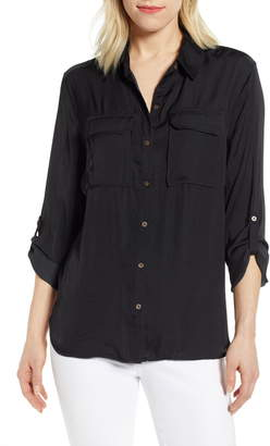 Vince Camuto Two-Pocket Rumple Blouse