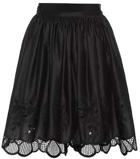 Moncler Lace-trimmed cotton skirt