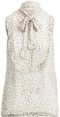 Ralph Lauren Denim & Supply Floral-Print Tie-Neck Blouse $89.50 thestylecure.com